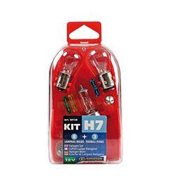 KIT H7 8 LAMPADE + 3 FUSIBILI