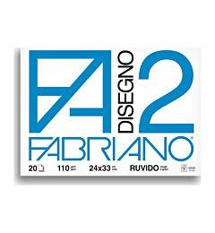 BLOCCO FABRIANO  516 - F2 24X33 FG.20 RUVIDO