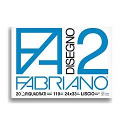 BLOCCO FABRIANO 1516 - F2 24X33 FG.20 SQUADRATO