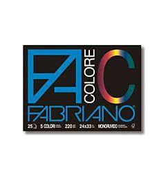 BLOCCO FABRIANO COLORE  24X33 FG. 25 GR.220