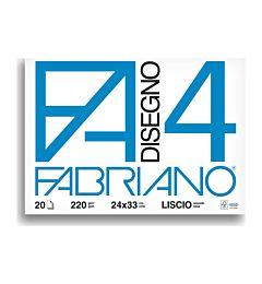 BLOCCO FABRIANO  597 - F4 24X33 FG.20 LISCIO