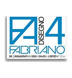 BLOCCO FABRIANO 1597 - F4 24X33 FG.20 SQUADRATO
