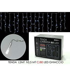 TENDA 2MT C/80 LED GHIACCIO LX0.5 MT H