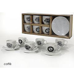 BOX CAFFE  6+6 9CL PORC. COFFEE VINTAGE
