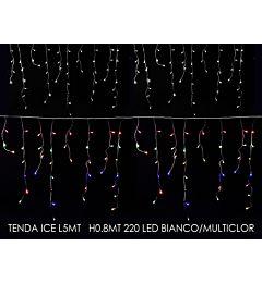 TENDA ICE 5MT X0.8MT 220 LED BIANCO/MULT