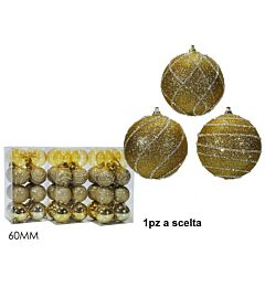 SET 16 PALLE 60MM ORO 3ASS.