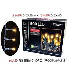 500 LUCI LED ORO  X EST. PROGR
