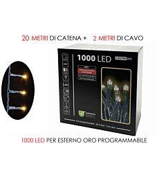 1000 LUCI LED ORO X EST.  PROGR