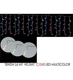 TENDA 6MT C/240 LED MULTICOLOR LX0.5MT