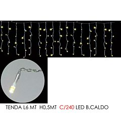 TENDA 6MT C/240 LED B.CALDO LX0.5MT