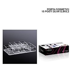 PORTA COSMETICI CRILEX 15 POSTI 20,4X12,8X5,2CM