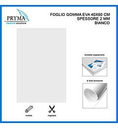 PRYMA FOGLIO GOMMA EVA 40X60CM 2MM BIANCO