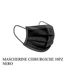 MASCHERINE CHIRURGICHE NERE 10PZ