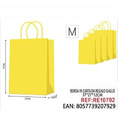 BORSA IN CARTA DA REGALO GIALLO 37*27*12