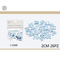 DEC.IN PLASTICA 2CM 26PCSGev