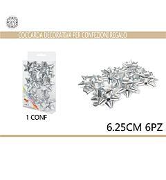 COCCARDA 6.25CM 6PZ ARGENTOGev