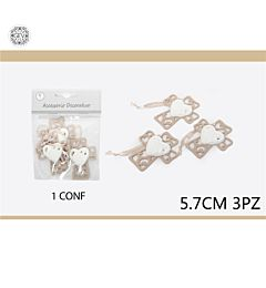 ACCESSORIO DECORATIVO CROCE E CUORE 5.7CM3PCS