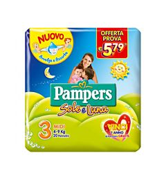 PAMPERS SOLE LUNA X20 MIDI