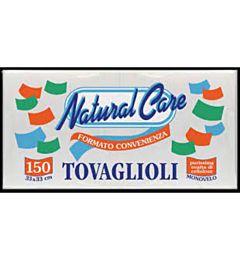 NAT. CARE TOVAGLIOLI 33X33 BIANCHI 150PZ