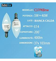 LAMPADINA LED E14 5W 400LM  2PZ LUCE NATURALEExtrastar