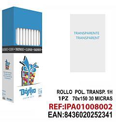 ROLLO POL. TRANSPARENTE 1H 70X150.Dz