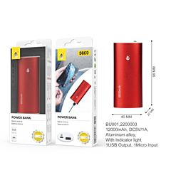 ONEPLUS POWER BANK METALBOX 5600 MAH 40*96*22MM, ROSSO