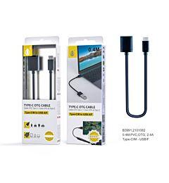 ONEPLUS B3991, CAVO OTG USB C, 40CM, NERO