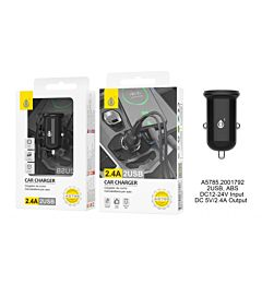 ONEPLUS CARICABATTERIA AUTO 2 USB 2.4A NERO