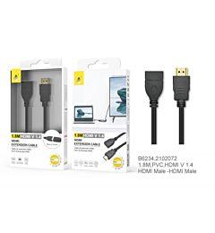 ONEPLUS CAVO HDMI PROLUNGA V1.4, 1080P, 1,8M