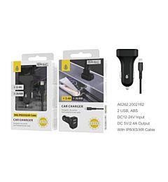 ONEPLUS CARICABATTERIA AUTO BASIC 2 USB 2.4A NERO