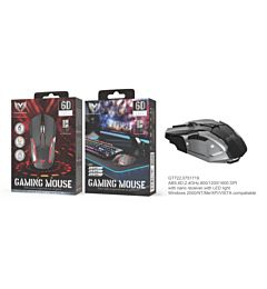 MTK GT722 MOUSE GAMING OTTICO WIRELESS 800/1200/1600 DPI