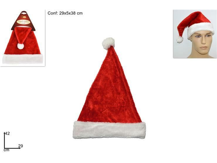 CAPPELLO BABBO NATALE VELLUTO ADULTOHY19010Due Esse