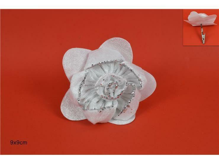 ROSA GLITTER PINZETTA 9CM BIANCA WM18-021-A W.CLIPDue Esse