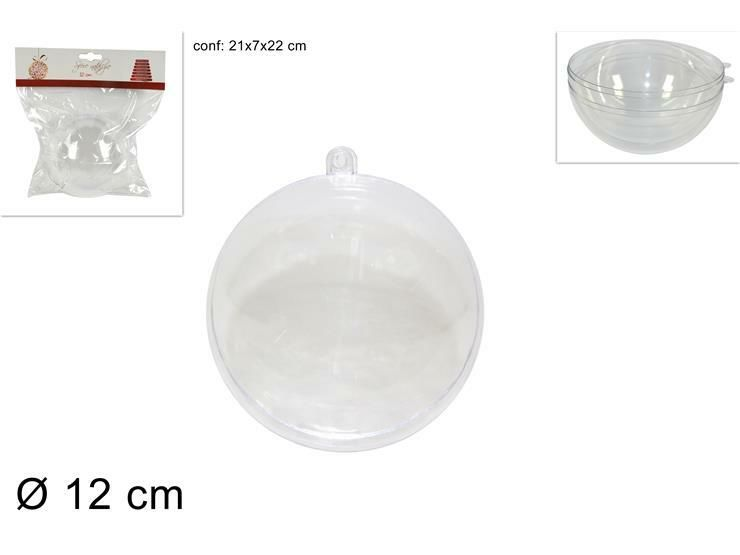 SFERA PLASTICA TRASPARENTE 12CM AXX/12 (1201)Due Esse