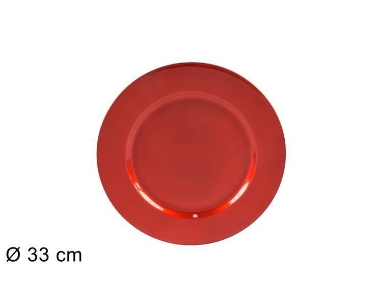 SOTTOPIATTO 33CM ROSSO 18166LR (FS001-R) (F.0,36)Due Esse
