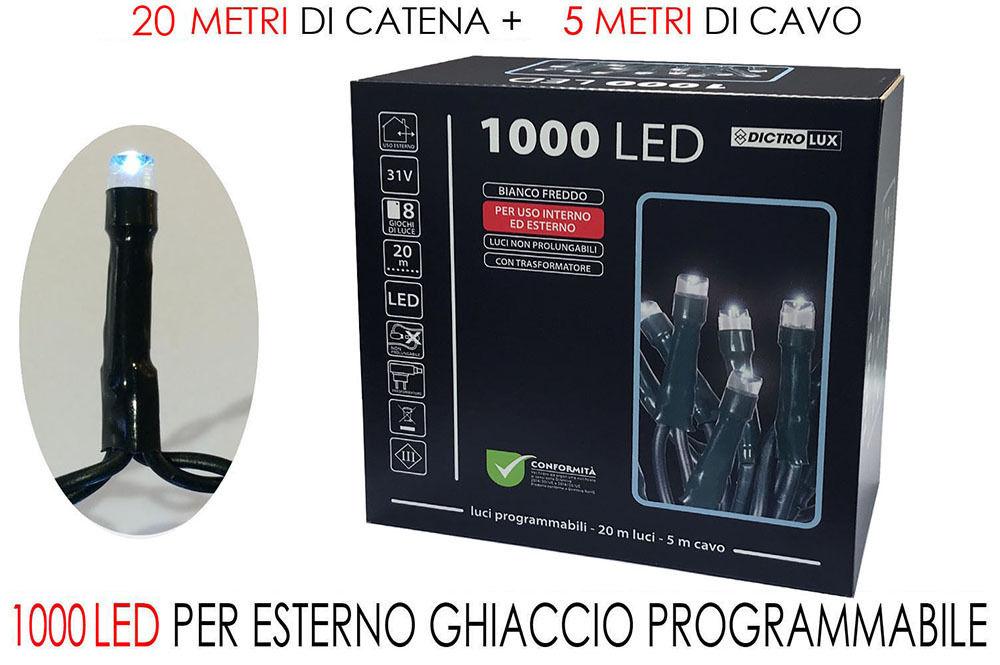 1000 LUCI LED BIANCO GHIACCIO X ESTERNOHappy Casa