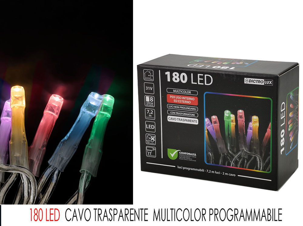 180 LED MULT. X EST CAVO TRASP. PROGHappy Casa