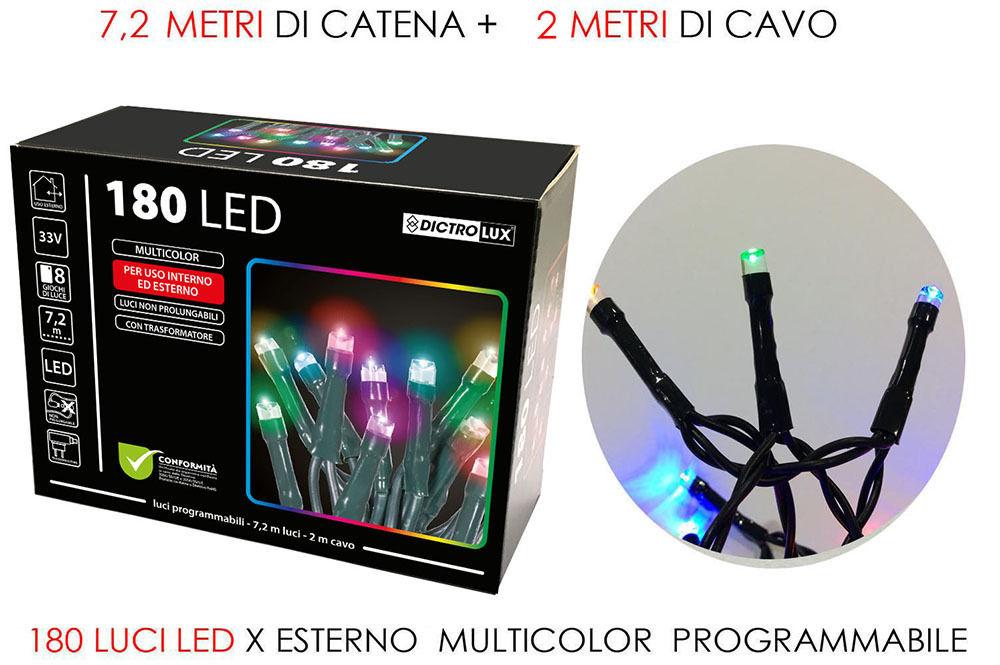 180 LUCI LED MULTICOLOR X ESTERNO  PROG.Happy Casa