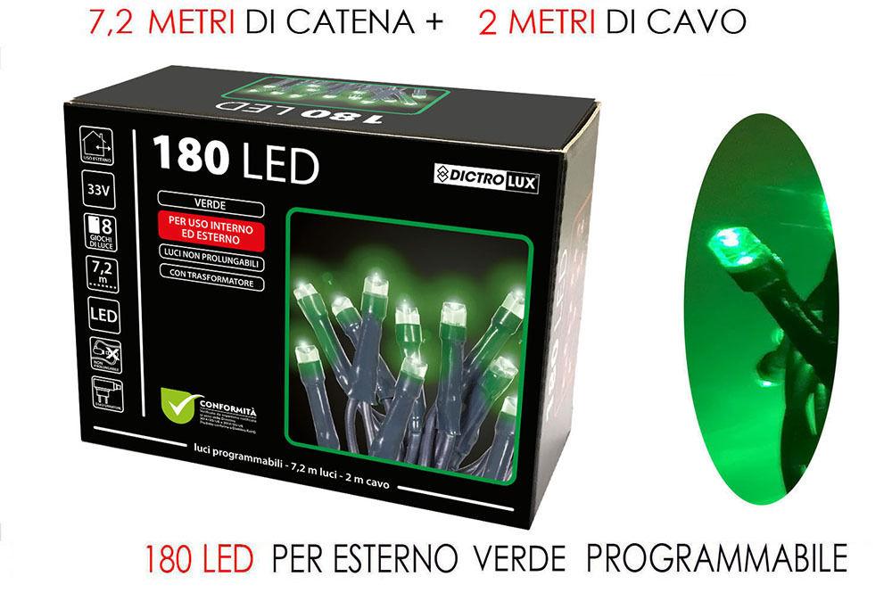 180 LUCI LED VERDE X EST. PROGRAMMABILIHappy Casa