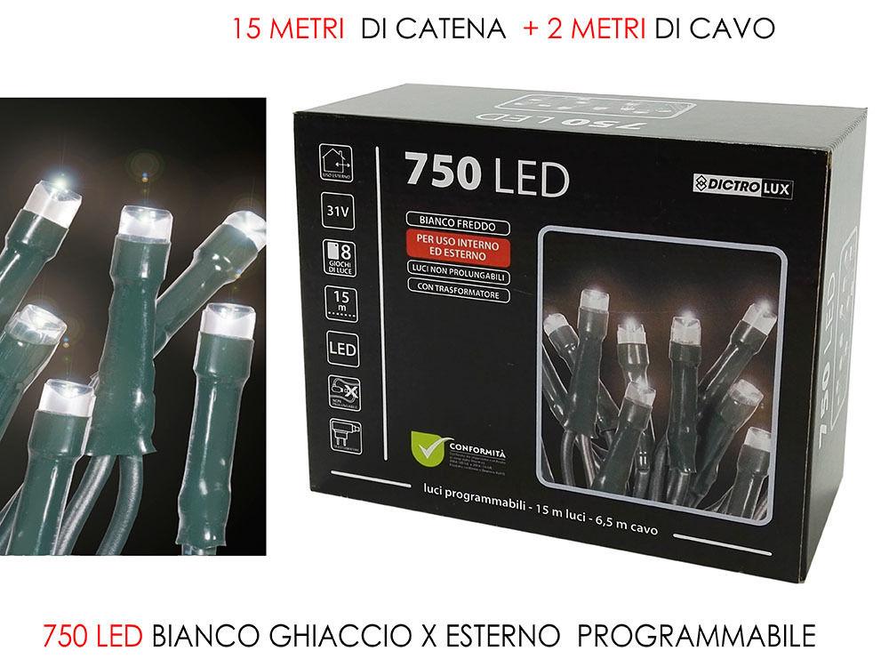 750 LUCI LED BIANCO GHIACCIO X EST. PRHappy Casa