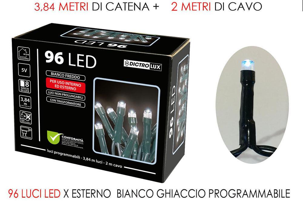 96 LUCI LED BIANCO GHIACCIO X EST.PRHappy Casa