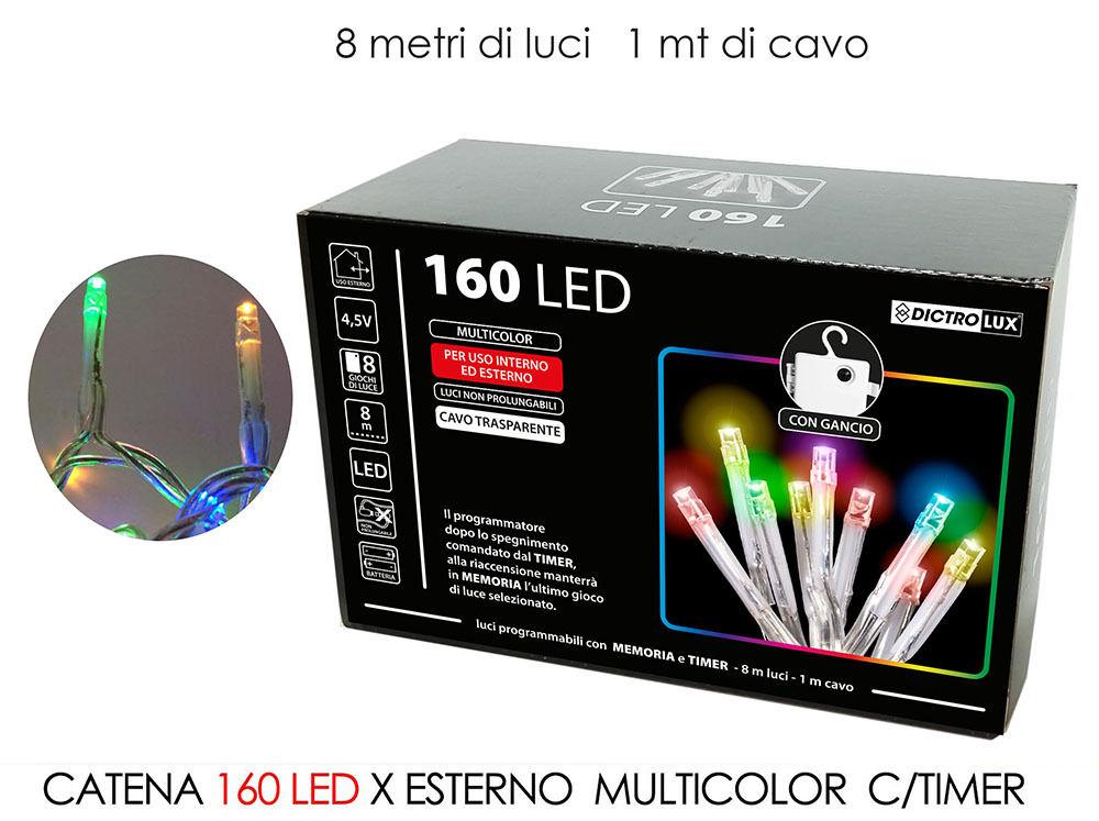 CATENA 160 LED X EST.MULTIC. B/O C/TIMERHappy Casa