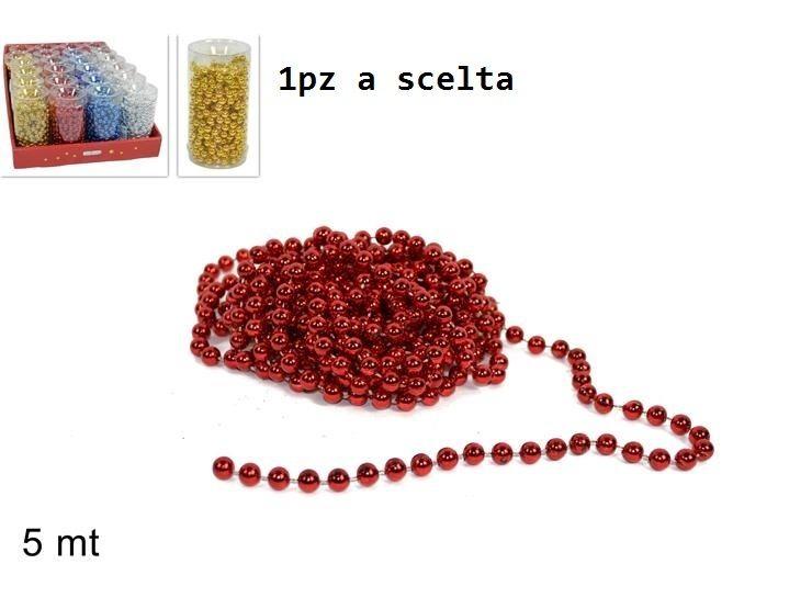CATENA PERLE DECORATIVA 5MT IN DISPLAY 4COL ART. 3Due Esse