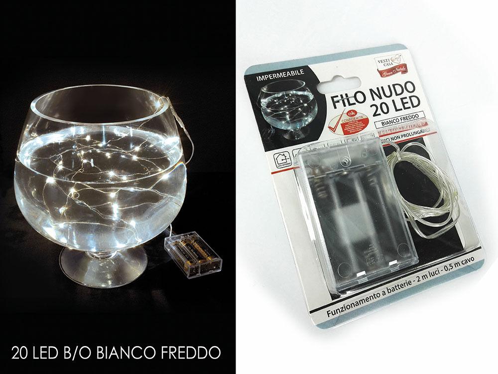 -FILO NUDO 20 MICROLED B/O BIANCO FREDDOHappy Casa
