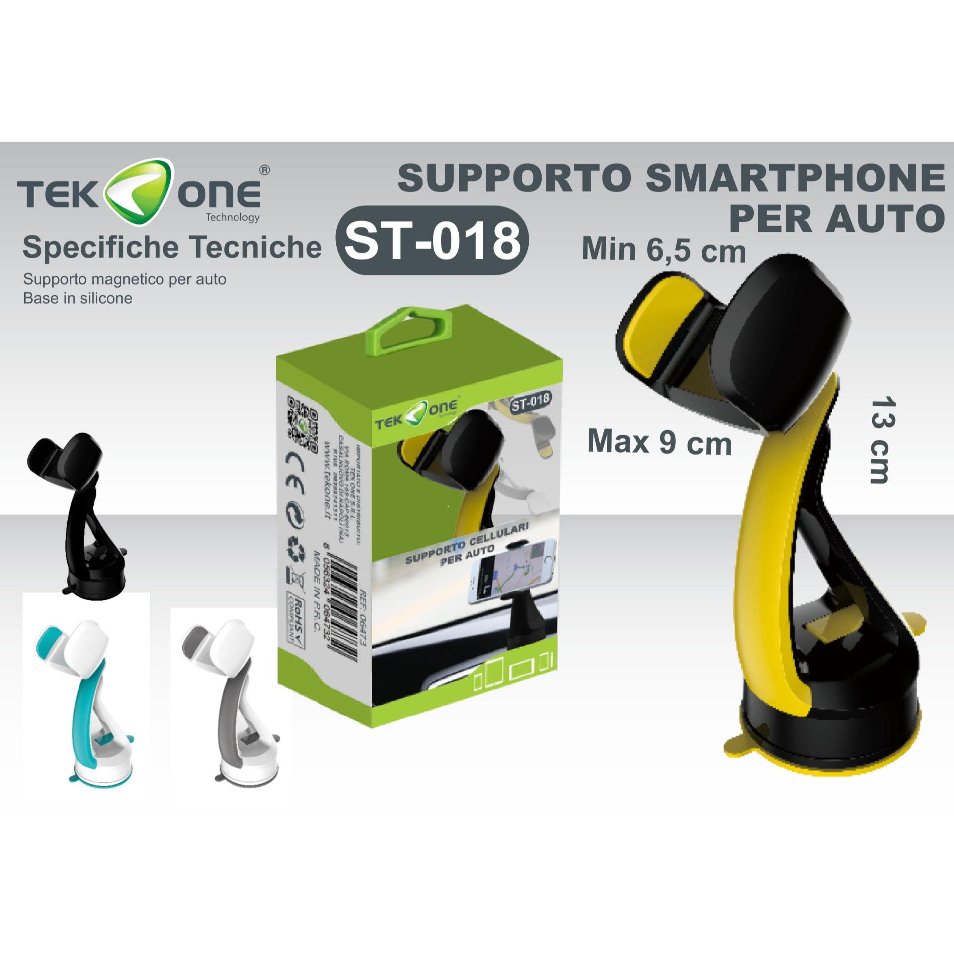 SUPPORTO A VENTOSA PER SMARTPHONE ST018Tekone