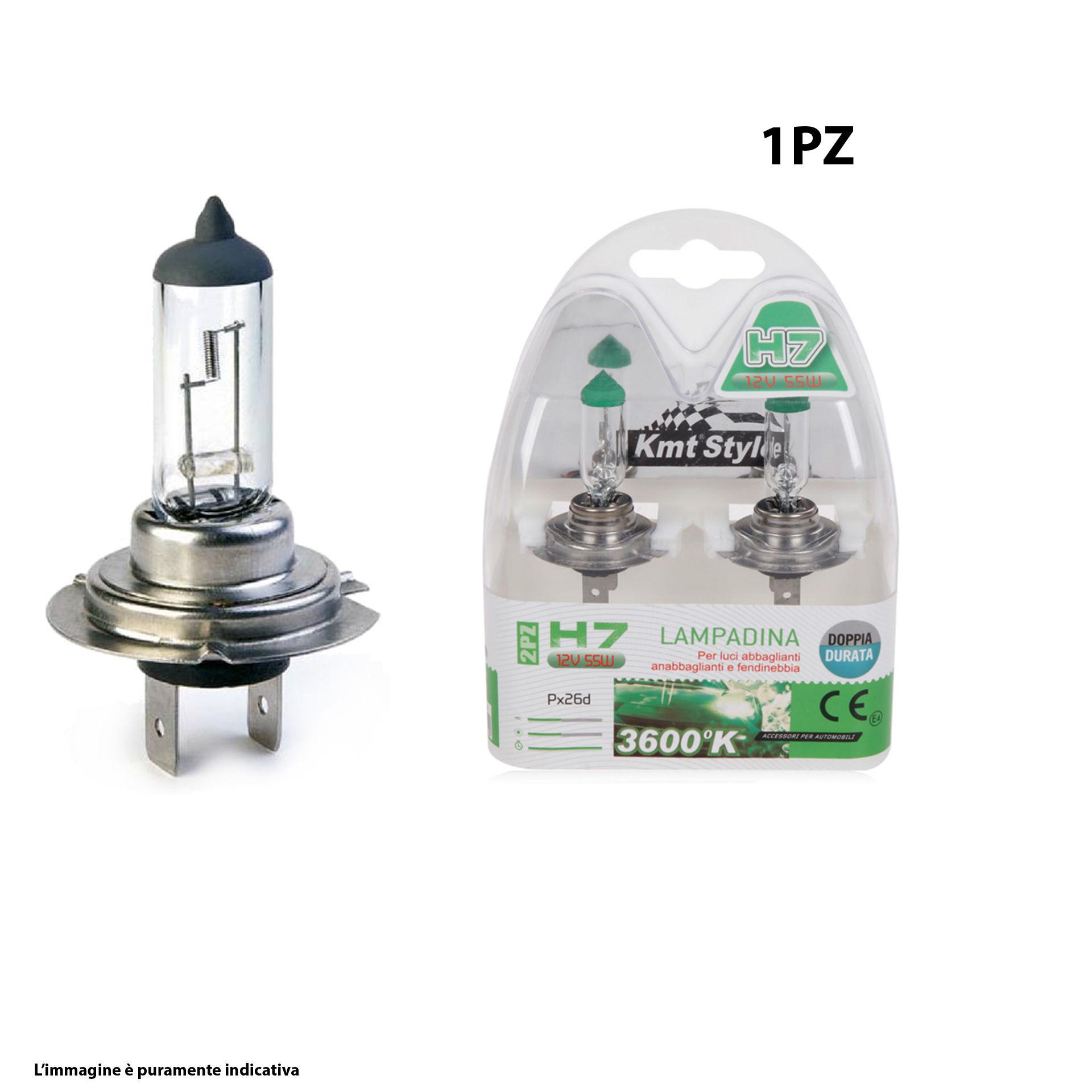 LAMPADA DA AUTO(1000H) H7 12V 55W 2PCSEmi Style