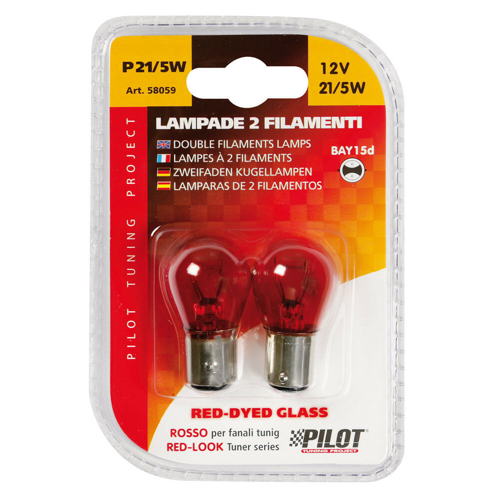 CP.LAMPADE 2 FIL.21/5W BAY15D  RED-DYED  COLOURLampa
