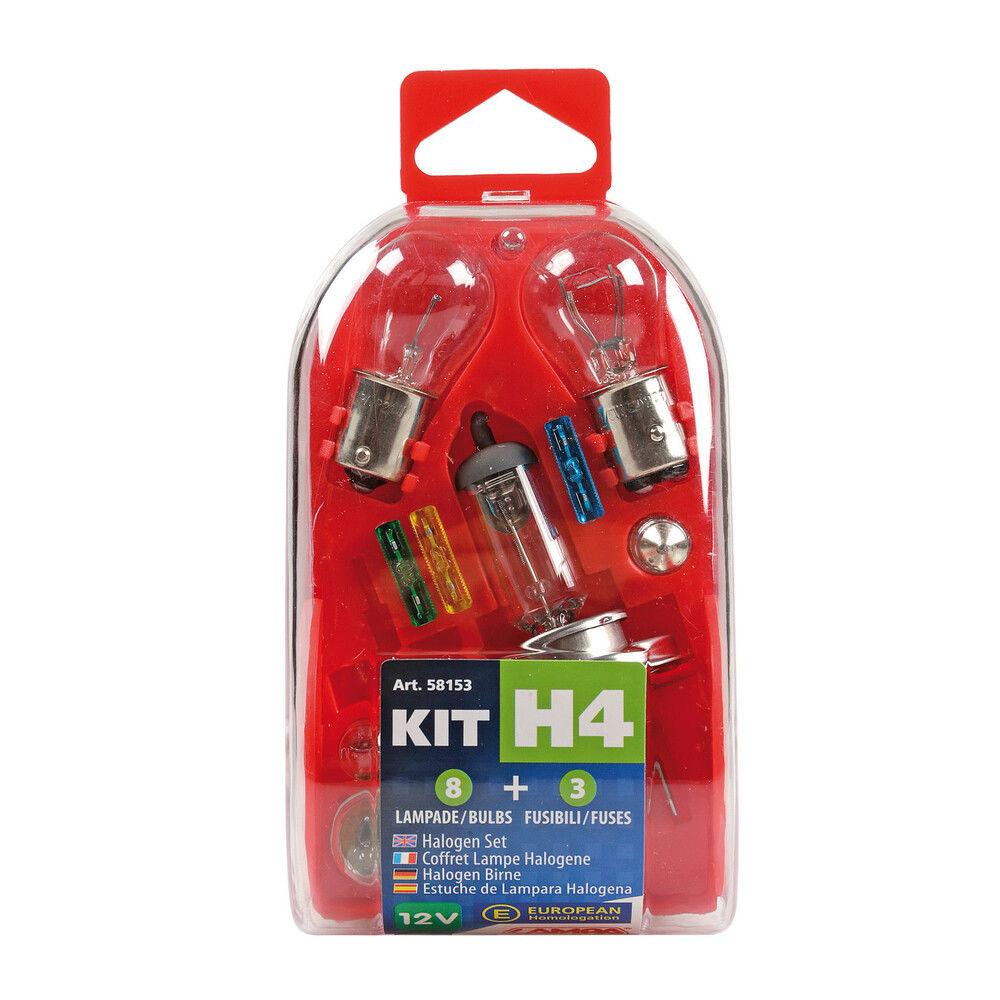 KIT H4 8 LAMPADE + 3 FUSIBILILampa