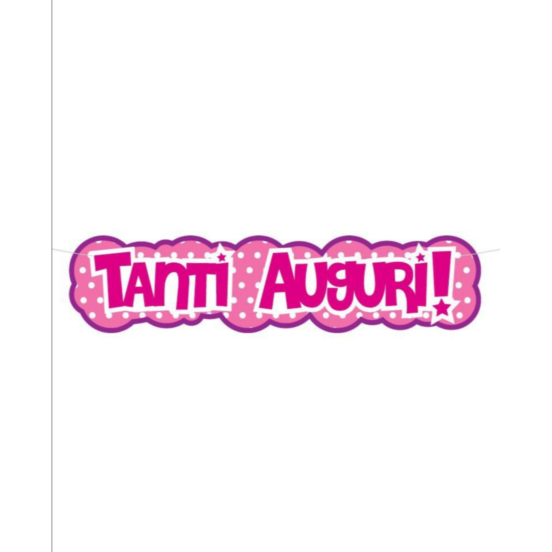 BANNER TANTI AUGURI ROSA 1 MTSweeping Party
