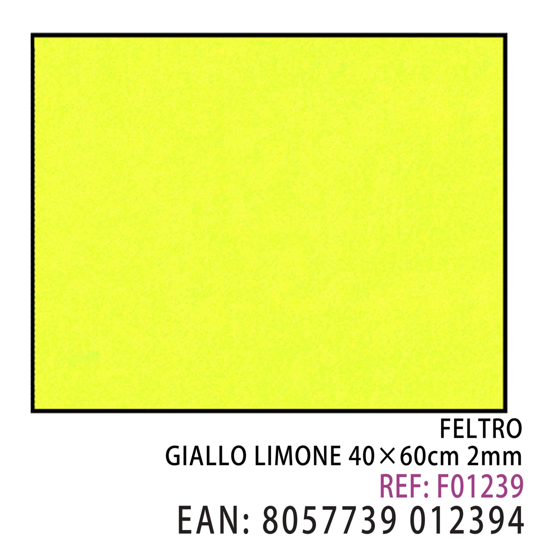 FELTRO GIALLO LIMONE 40*60CM*2MMDz